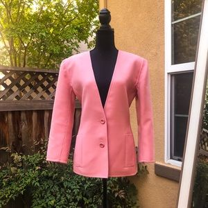 Vintage Oscar de la Renta Wool Two Button Blazer